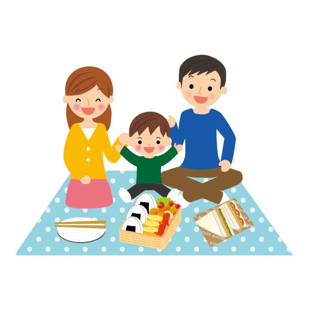 子連れでピクニック。持ち物の準備はこれでオッケー。お弁当はどうする?