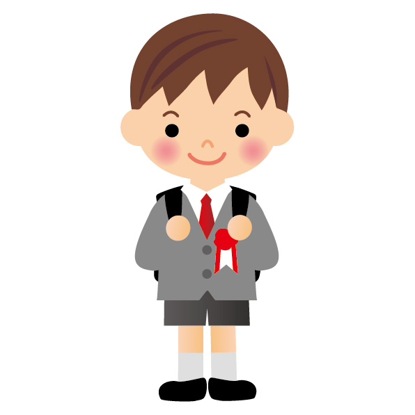 小学校の入学式 男の子の服装、靴や靴下もこんな感じにしました。